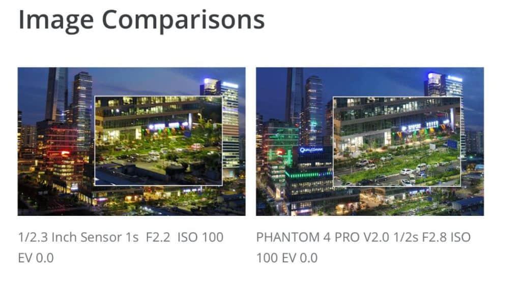 Phantom 4 Pro v2.0 image compare