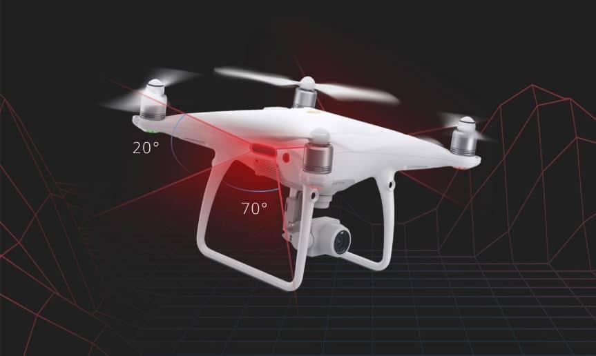 Phantom 4 Pro v2.0 infrared sensors