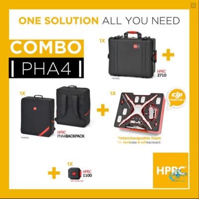 HPRC Softbag & Hardcase for DJI Phantom 4 Pro - dronedepot.be