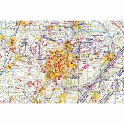 Low Air VFR Chart Belgium