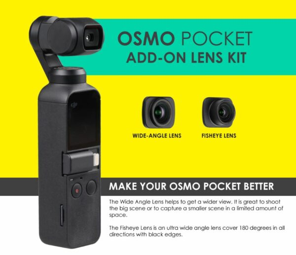 ZTylus - DJI Osmo Pocket Add-On Lens Kit