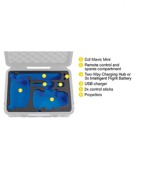 B&W Flightcase Type 1000 DJI Mavic Mini Foam inlay