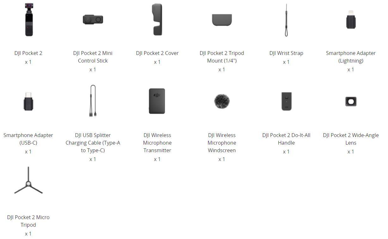 DJI Pocket 2 - Creator Combo - wat zit er in de doos