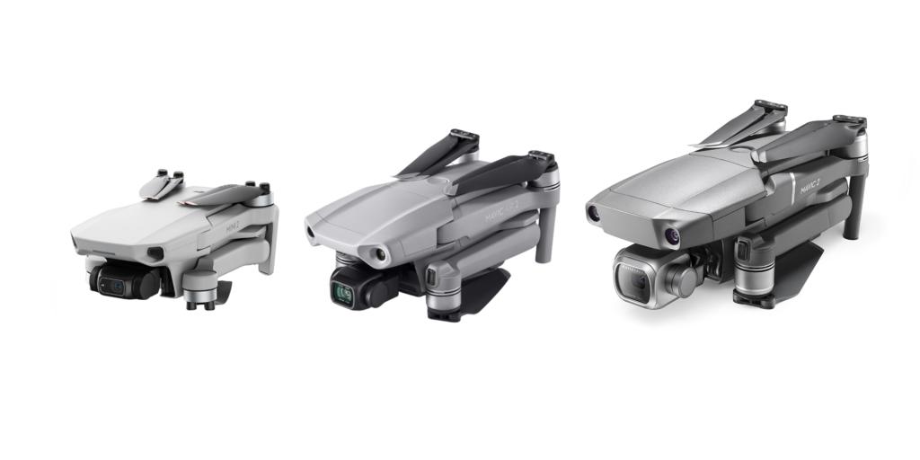 Vergelijk Mini 2 - Air 2 - Mavic 2 Pro