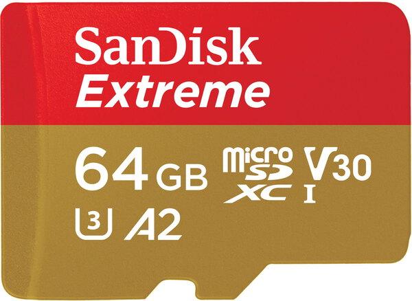 Sandisk Extreme microsdxc uhs-i-A2-64Gb